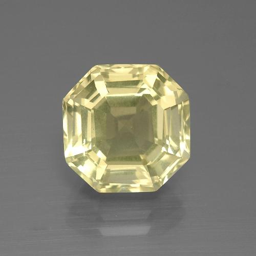 Pale Yellow Quartz Gem - 5.3ct Asscher Cut (ID: 394808)