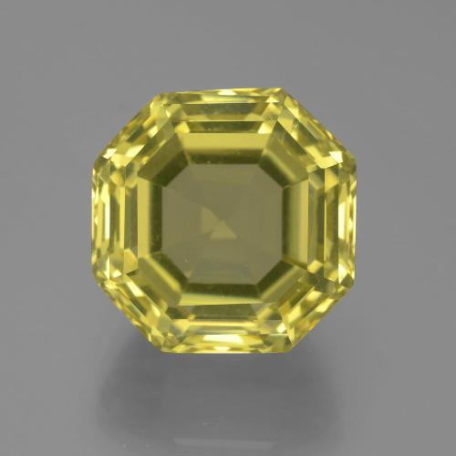 Pineapple Yellow Cuarzo Gema - 17.3ct Corte Asscher (ID: 394842)