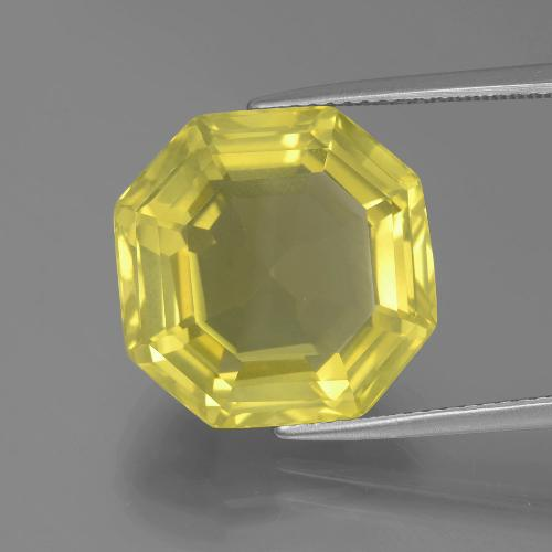 Medium-Light Yellow Cuarzo Gema - 14.9ct Corte Asscher (ID: 394846)