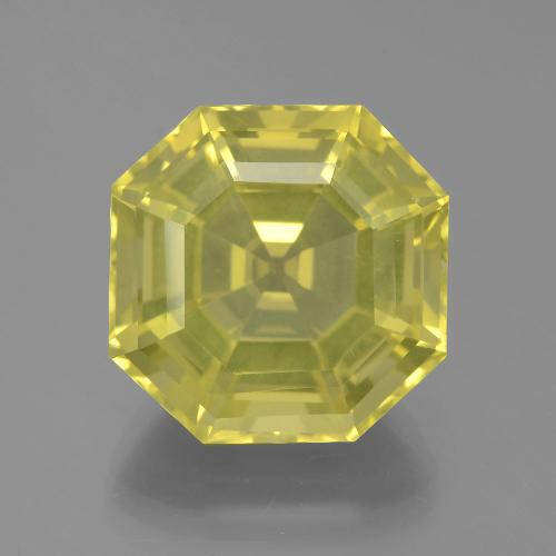 16.31 ct Asscher Cut Lemon Quartz Gemstone 15.85 mm x 15.8 mm (Product ID: 394847)
