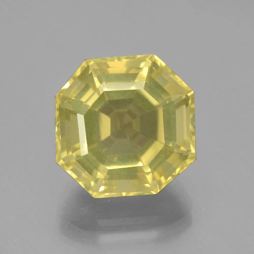 Very Pale Yellow Cuarzo Gema - 8.1ct Corte Asscher (ID: 394892)
