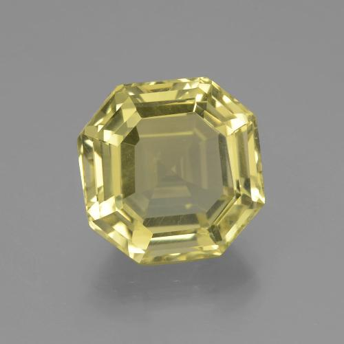 Pale Yellow Quartz Gem - 7ct Asscher Cut (ID: 395063)