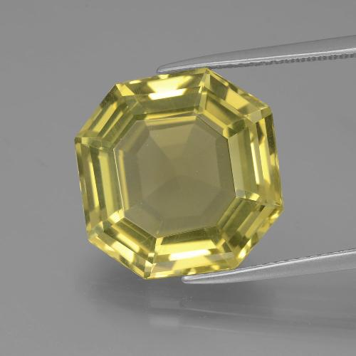 Pineapple Yellow Cuarzo Gema - 13.7ct Corte Asscher (ID: 395104)