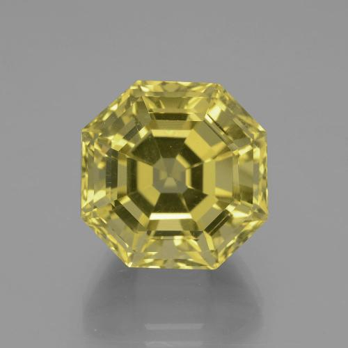 Medium-Light Yellow Cuarzo Gema - 16.5ct Corte Asscher (ID: 395105)