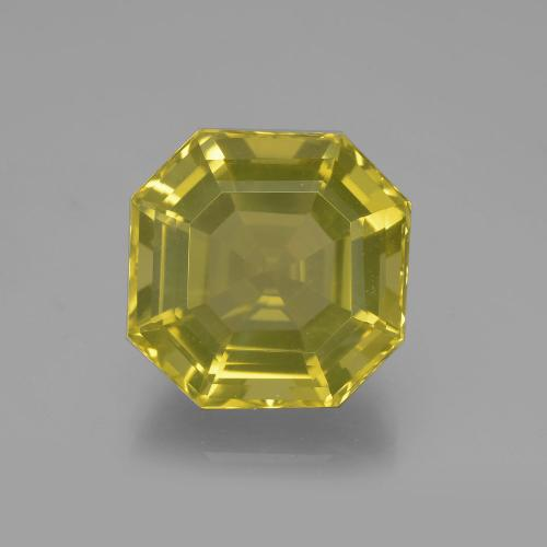 Medium Yellow Cuarzo Gema - 11.4ct Corte Asscher (ID: 395107)