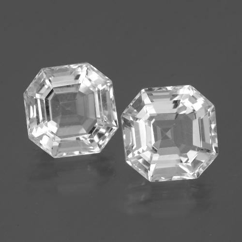 Clear White Quartz Gem - 4.1ct Asscher Cut (ID: 395367)