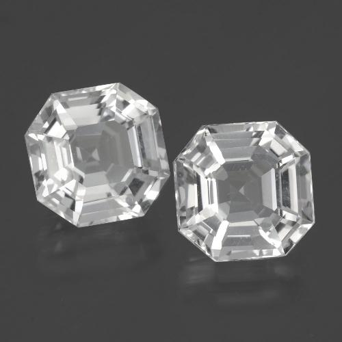 White Quartz Gem - 4.1ct Asscher Cut (ID: 395384)