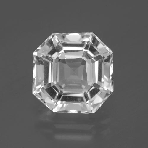Clear White Quartz Gem - 7.5ct Asscher Cut (ID: 395485)