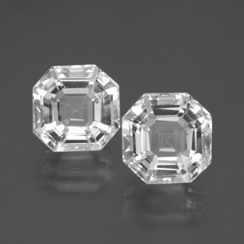 Clear White Quartz Gem - 5.2ct Asscher Cut (ID: 395737)