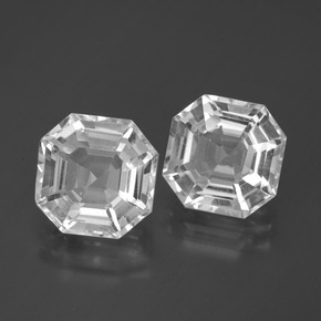 Clear White Quartz Gem - 4.5ct Asscher Cut (ID: 395759)