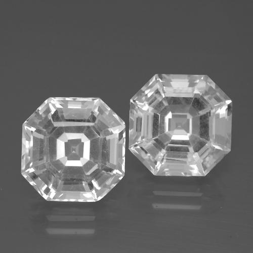Clear White Quartz Gem - 5.5ct Asscher Cut (ID: 395774)