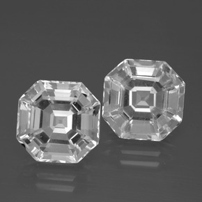 Clear White Quartz Gem - 5.7ct Asscher Cut (ID: 395776)