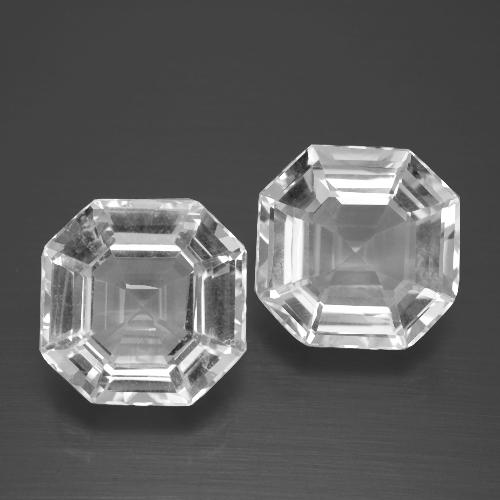 White Quartz Gem - 5.2ct Asscher Cut (ID: 395778)