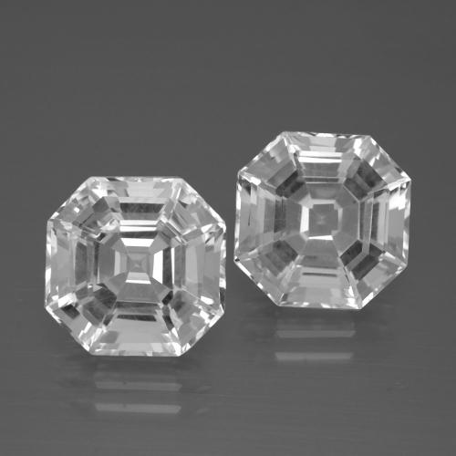 White Quartz Gem - 5.7ct Asscher Cut (ID: 395783)