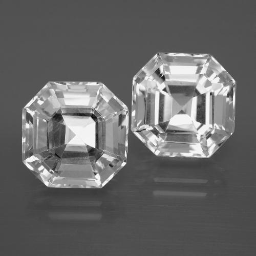 Clear White Quartz Gem - 5.7ct Asscher Cut (ID: 395871)