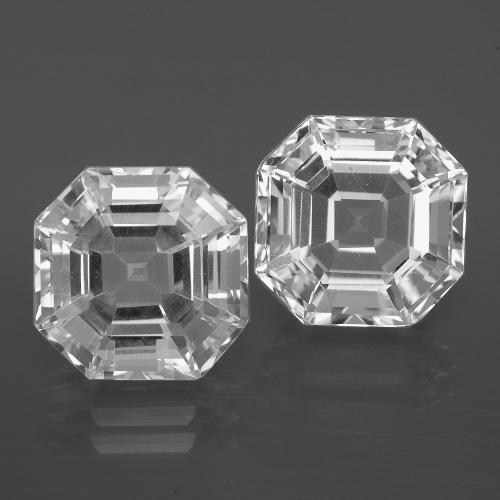 Clear White Quartz Gem - 5.9ct Asscher Cut (ID: 395874)