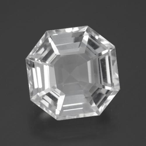 Clear White クォーツ 宝石 - 10.6ct アッシャーカット (ID: 395995)