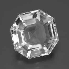 Clear White Quartz Gem - 11.8ct Asscher Cut (ID: 396033)