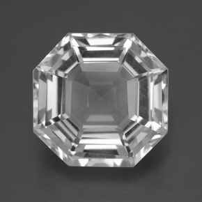 Clear White Quartz Gem - 11.6ct Asscher Cut (ID: 396035)