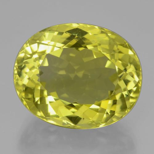 Lemon Quartz Gem - 25.4ct Oval Facet (ID: 398895)