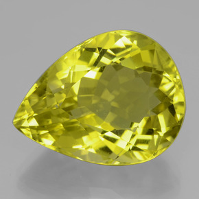 thumb image of 26.3ct Pear Facet Lemon Quartz (ID: 398897)
