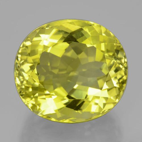 Lemon Quartz Gem - 31.4ct Oval Facet (ID: 398901)