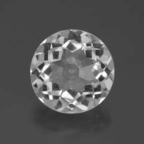 5.2ct Round Petal Cut White Quartz Gem (ID: 399065)