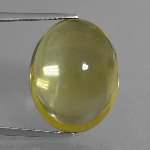 Lemon Quartz Gem - 35.7ct Oval Cabochon (ID: 405984)
