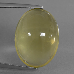 Lemon Quartz Gem - 19.4ct Oval Cabochon (ID: 406056)