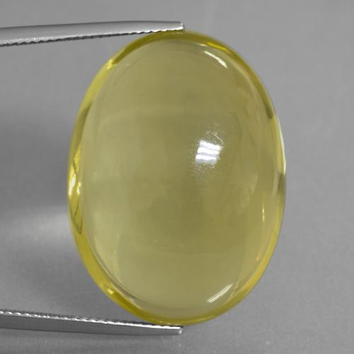 Medium-Light Yellow Quartz Gem - 49ct Oval Cabochon (ID: 406081)