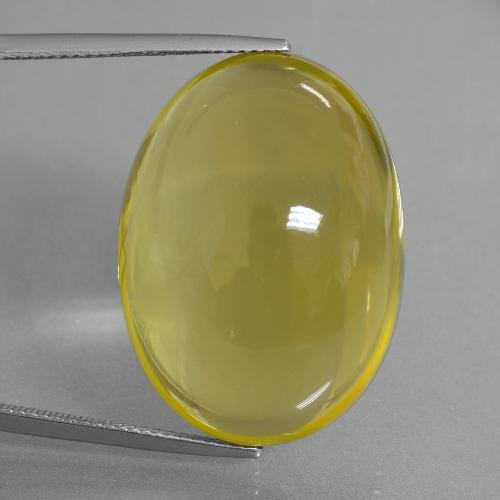 thumb image of 51.7ct Oval Cabochon Lemon Quartz (ID: 406084)
