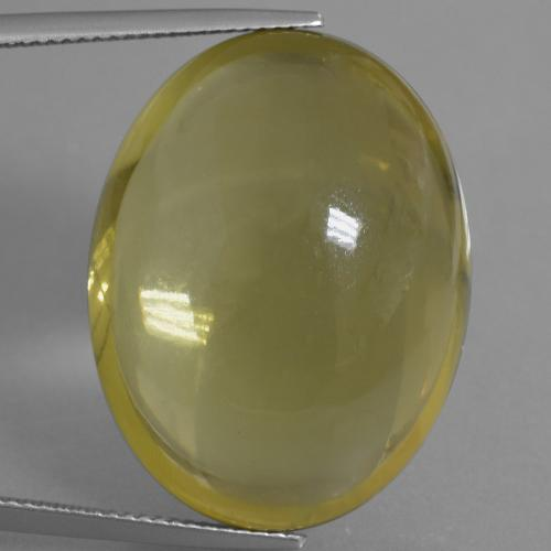 Medium Yellow Quartz Gem - 53.1ct Oval Cabochon (ID: 406101)