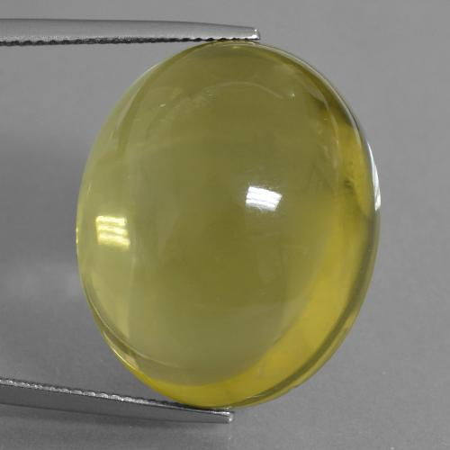 Lemon Quartz Gem - 57.7ct Oval Cabochon (ID: 406104)
