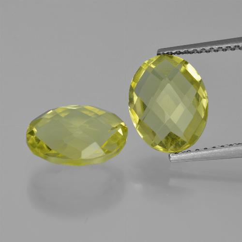 thumb image of 4.7ct Oval Checkerboard (double sided) Lemon Quartz (ID: 416738)
