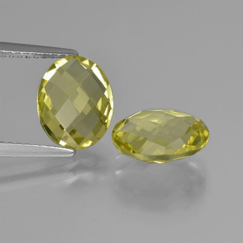 thumb image of 4.3ct Oval Checkerboard (double sided) Lemon Quartz (ID: 417070)