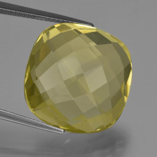 thumb image of 27.3ct Cushion Checkerboard (double sided) Lemon Quartz (ID: 417322)