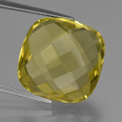 Lemon Quartz Gem - 26.1ct Cushion Checkerboard (double sided) (ID: 417327)