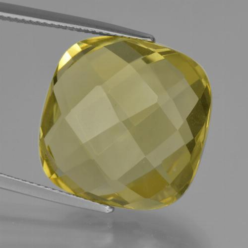Pineapple Yellow Cuarzo Gema - 26.2ct Corte Cojín Checkerboard (ambos lados) (ID: 417340)