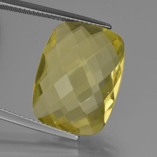 thumb image of 14.7ct Cushion Checkerboard (double sided) Lemon Quartz (ID: 417359)