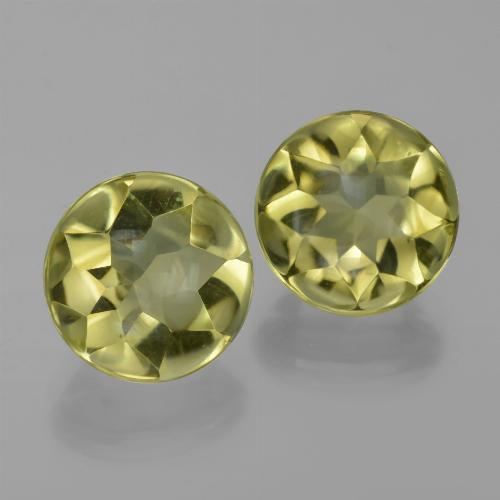 3.9ct Round Buff-Top Lemon Quartz Gem (ID: 417379)