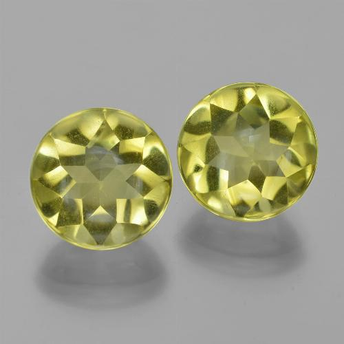 Lemon Quartz Gem - 3.9ct Round Buff-Top (ID: 417391)