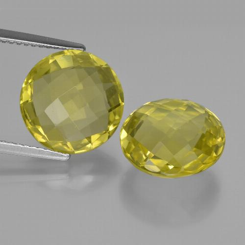 thumb image of 10.4ct Round Checkerboard (double sided) Lemon Quartz (ID: 417689)