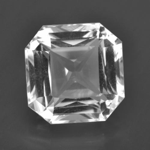 Clear White Quartz Gem - 8.7ct Octagon / Scissor Cut (ID: 417807)