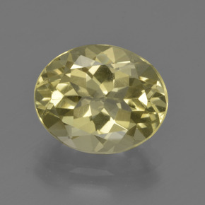 Laguna Yellow Quartz Gem - 3.4ct Oval Facet (ID: 423292)