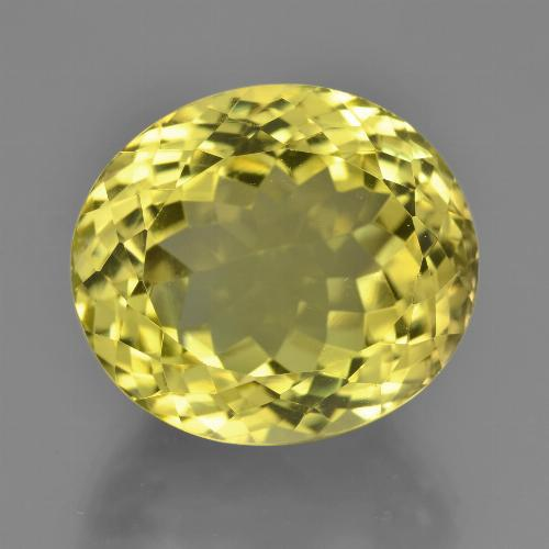 Medium-Light Yellow Quartz Gem - 18.1ct Oval Facet (ID: 451903)