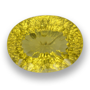 Medium-Dark Yellow Cuarzo Gema - 70.8ct Corte Cóncavo y Óvalo (ID: 458212)