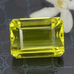 Lemon Quartz Gem - 34.1ct Octagon Step Cut (ID: 470082)