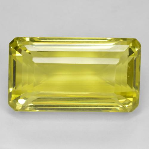 Lemon Yellow Quartz gemme - 41.4ct Octogone taillé en degrés (ID: 470083)