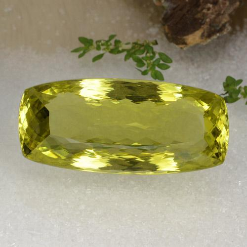 Green Yellow Quartz Gem - 75.2ct Barrel (ID: 470394)