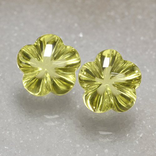 7.9ct Carved Flower Lemon Quartz Gem (ID: 470484)